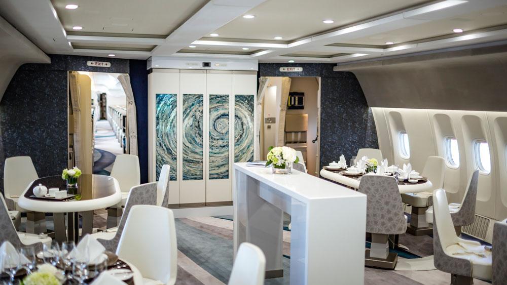 Crystal Skye interior of jet.