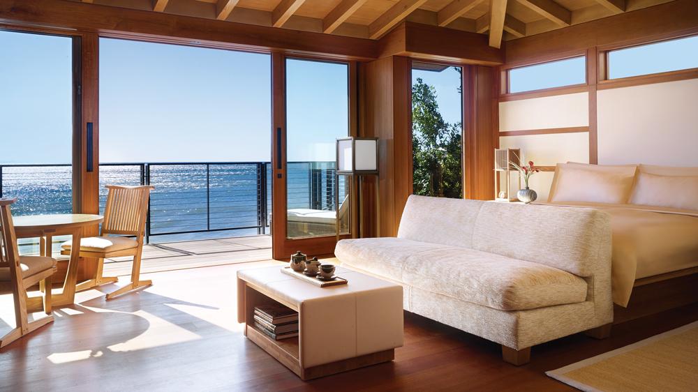 malibu ryokan interior bedroom