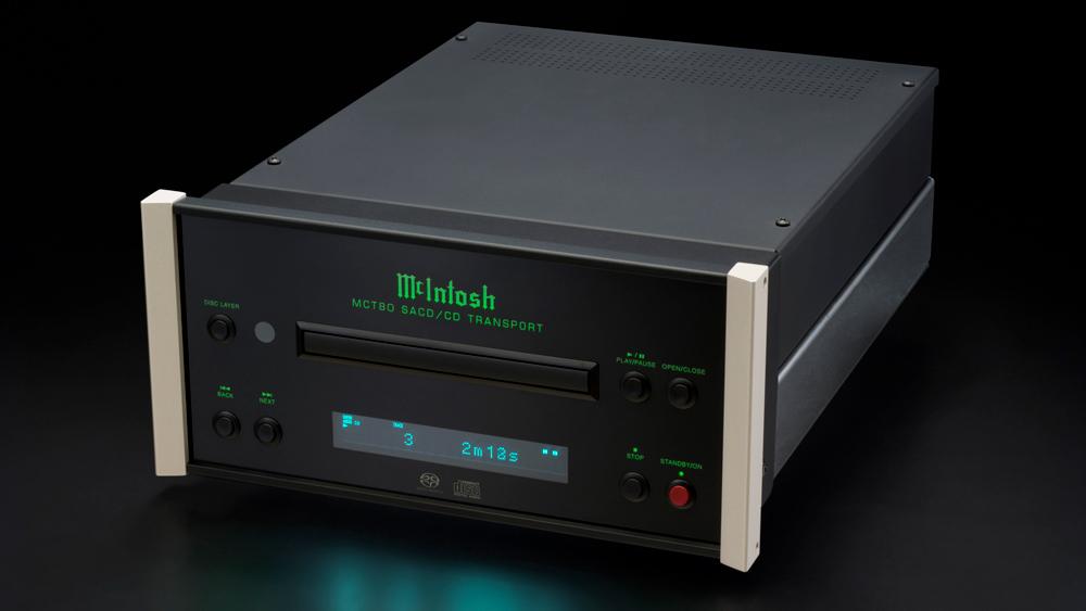 McIntosh MCT80 CD/SACD transport raised front shot