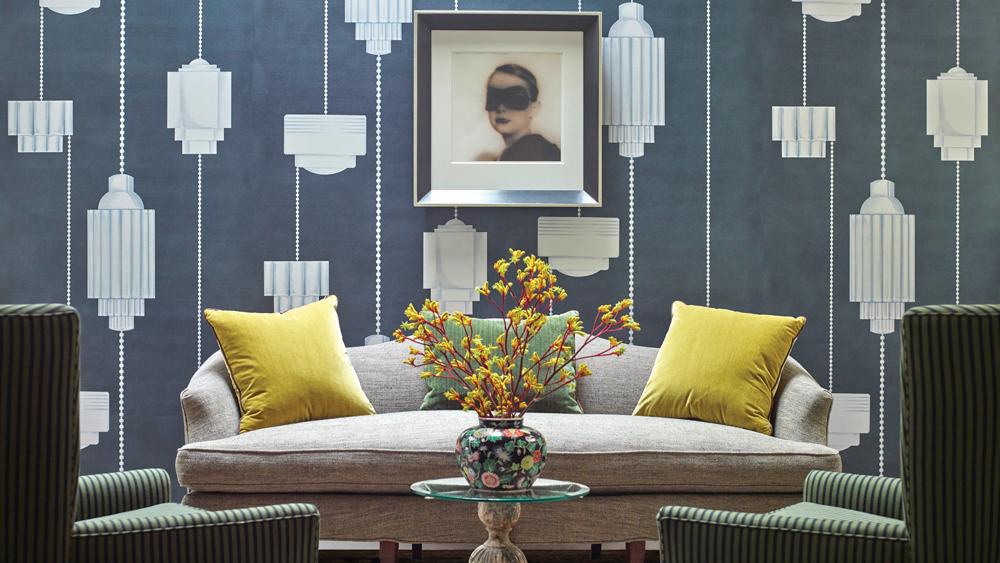 Interior designs by Michael Berman.