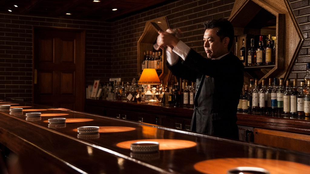The Old Imperial Bar at Japan's Imperial Hotel Tokyo