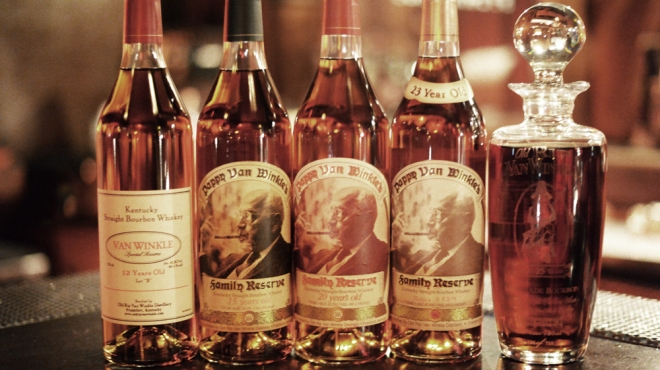Pappy Van Winkle collection of bourbons.