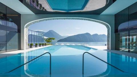 Park Hotel Vitznau pool view