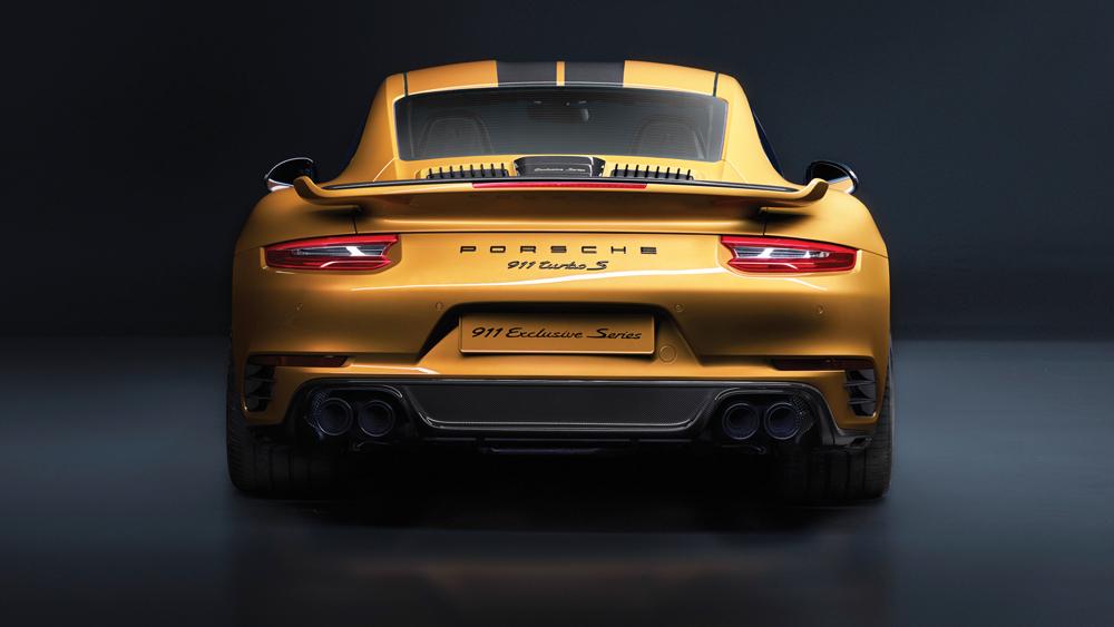 Porsche 911 turbo s exclusive series gold