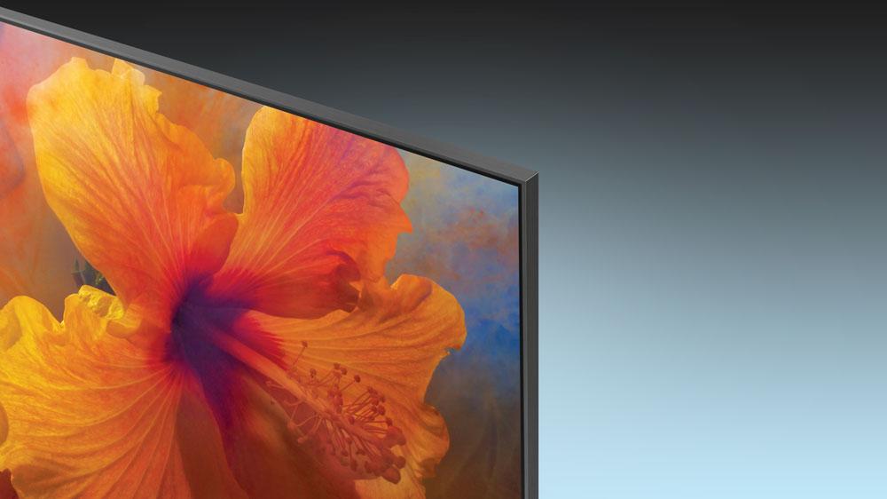 Corner of Samsung's 88-Inch, 4K Q9F QLED television