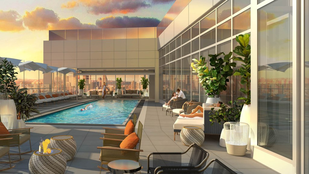 Rooftop Pool at Hotel X Toronto