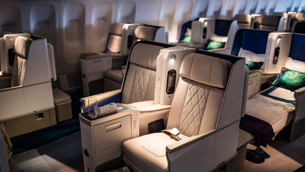 Crystal Skye interior of jet showcasing the luxurious seating for passengers.