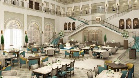Mediterranean restaurant rendering Dubai