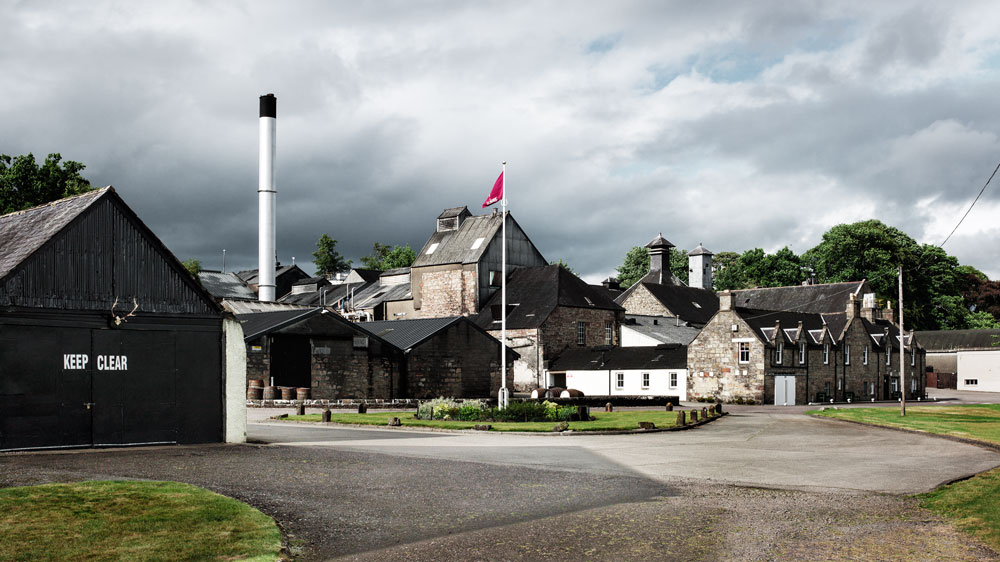 The Dalmore distillery exterior of building