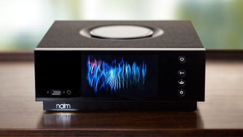 Naim Uniti Atom music player on desk