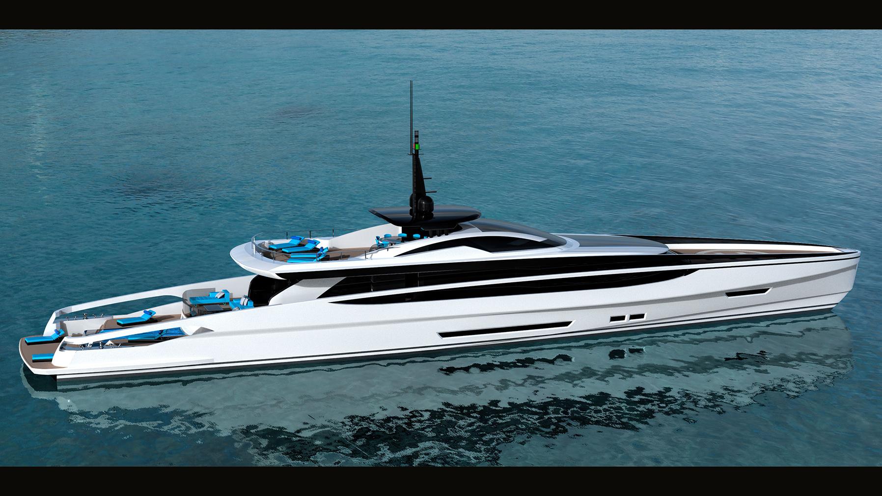 Ocean Independence Van Oossanen Federico Fiorentino Fast Displacement XL-300 superyacht concept