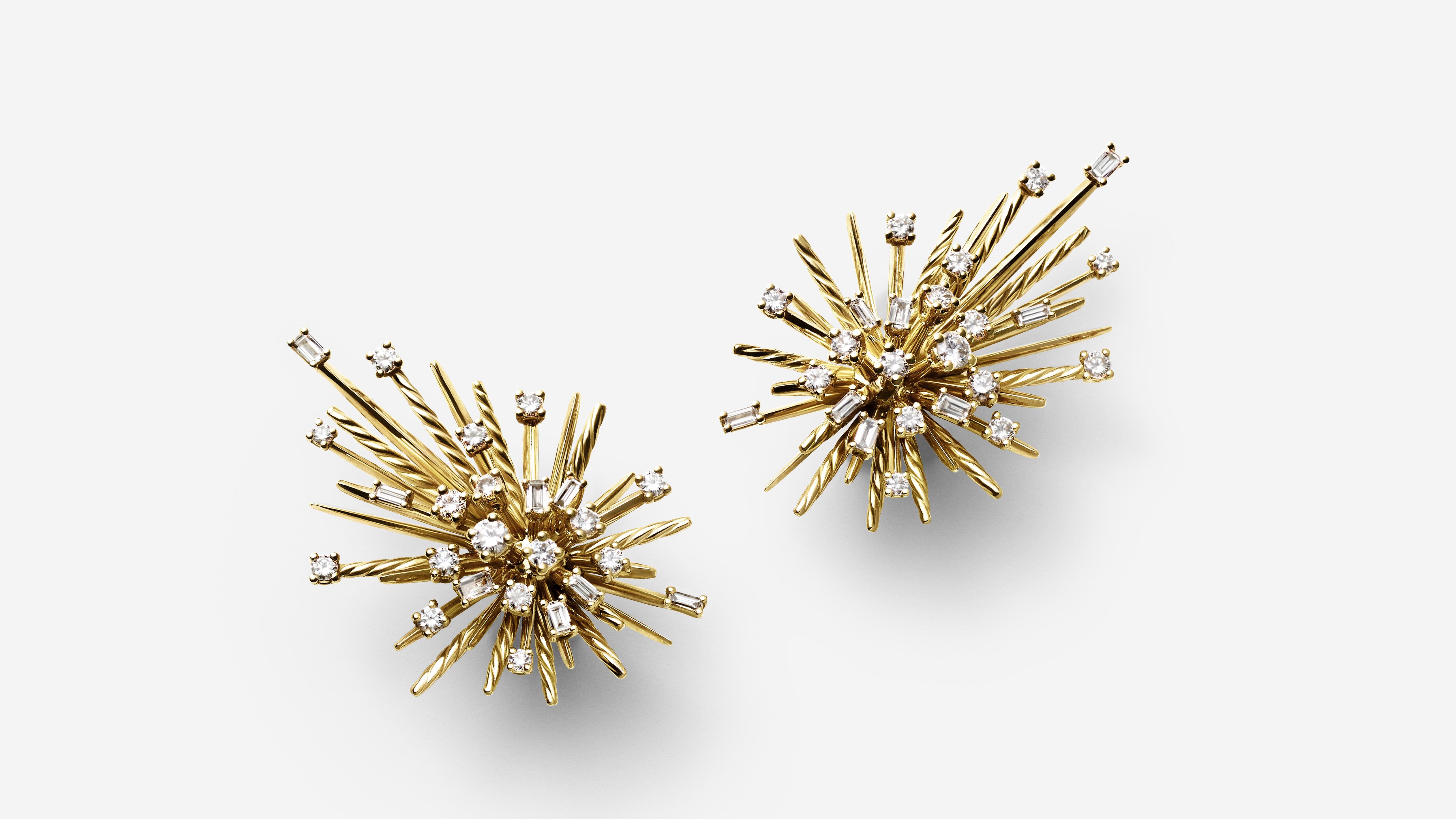 gold David Yurman Supernova shooting star earrings