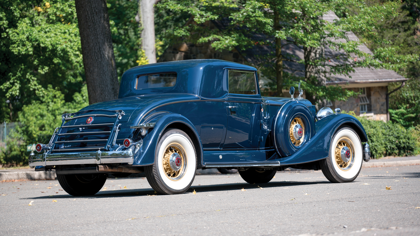 The 1934 Packard Twelve 2/4-Passenger Coupe being presented by RM Sotheby's.
