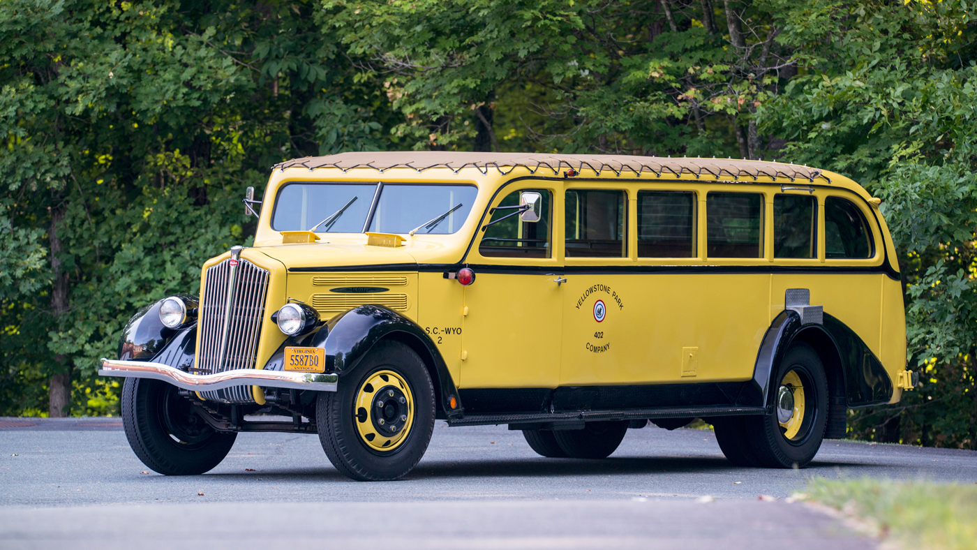 A 1937 White Model 706 Yellowstone Park Tour Bus by Bender.