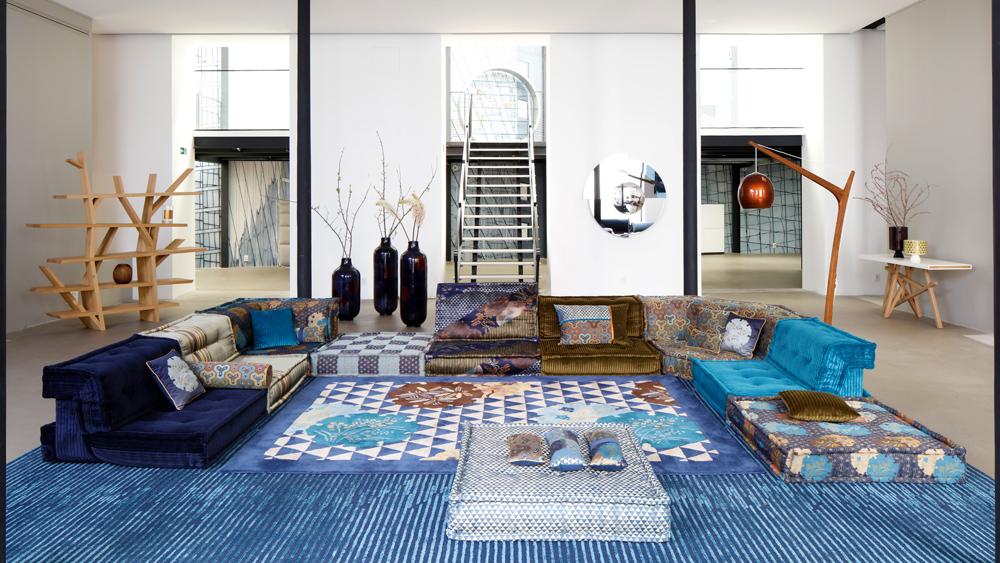 New Mah Jong sofa designed by Kenzo Takada for Roche Bobois