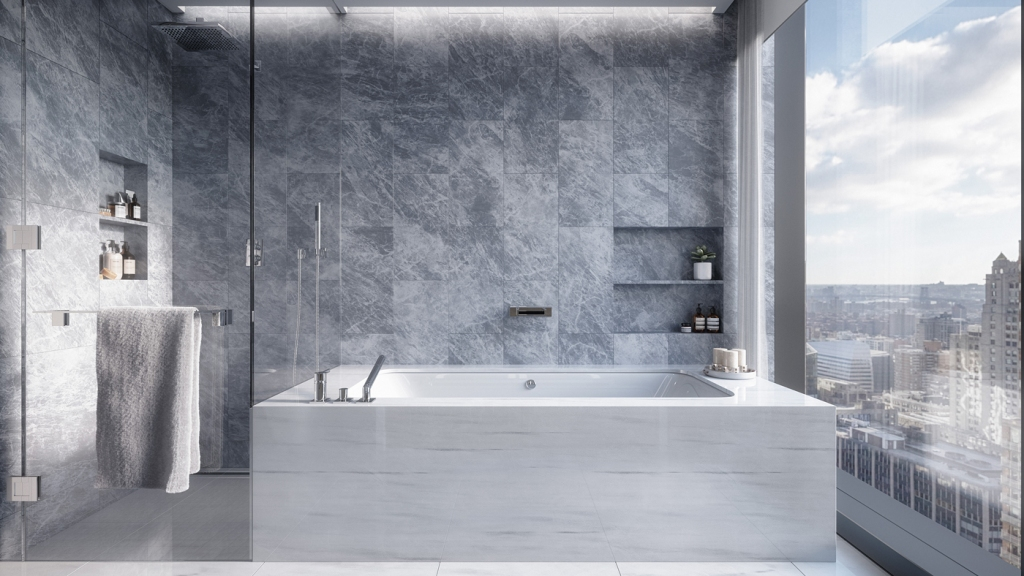 master bath at 277 Fifth Avenue in New York City