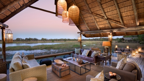 Safari lodge with chic interiors in Botswana