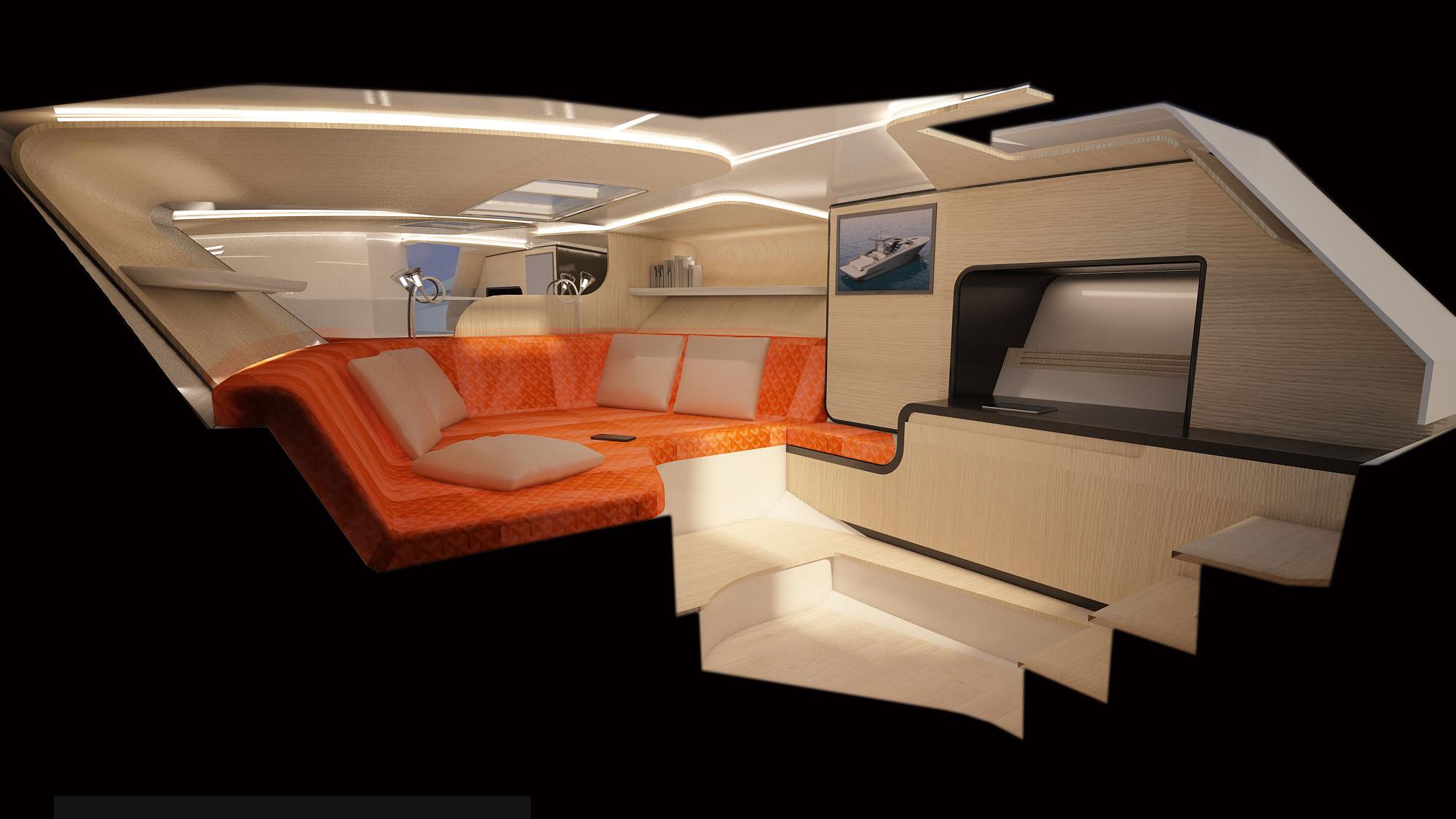 Gladiator 428 yacht Italian day boat