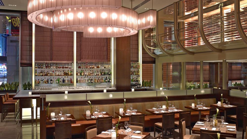 tables and bar at Aureole