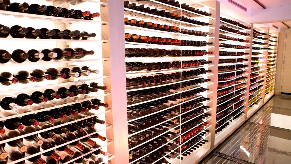 wine cellar at Aureole