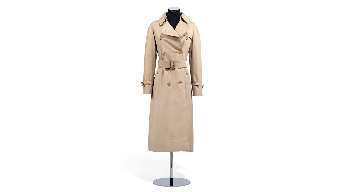Beige Burberry trench coat
