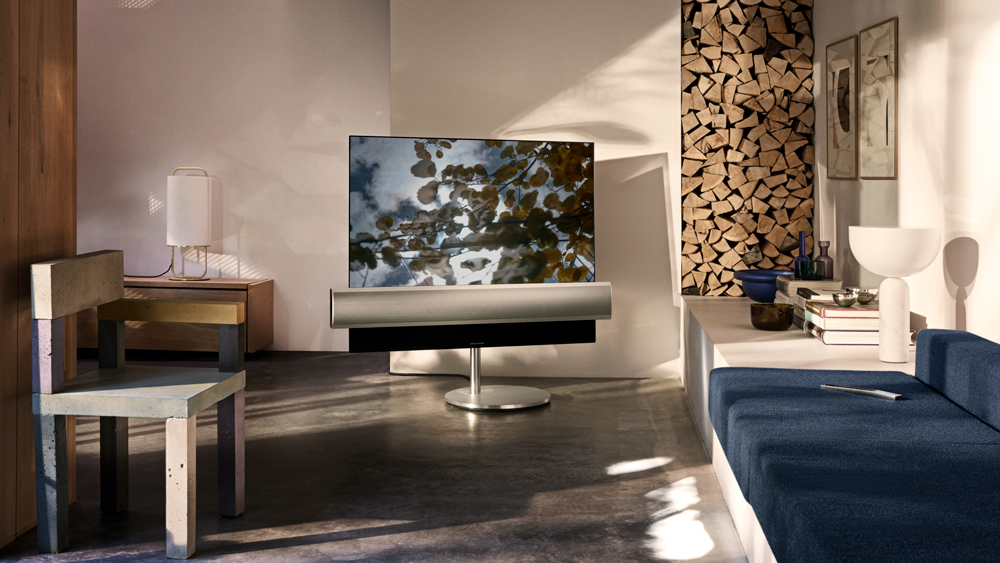 Bang & Olufseon BeoVision Eclipse OLED television in living room setting