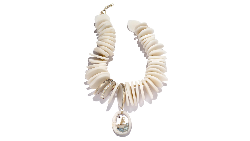 Coomi tagua nut necklace and pendant