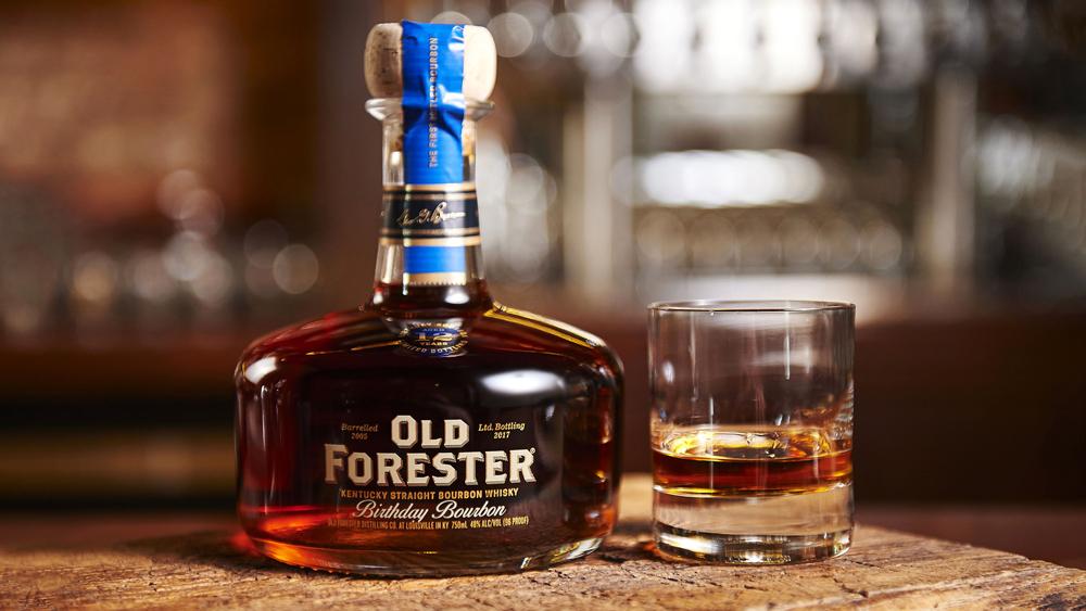 bottle glass Old Forester Birthday Bourbon