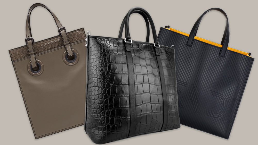 totes bags from Bottega, Frank Clegg, Fendi