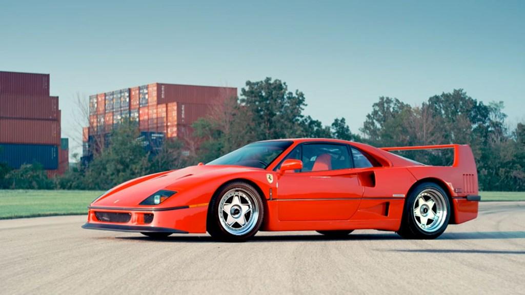A 1991 Ferrari F40.