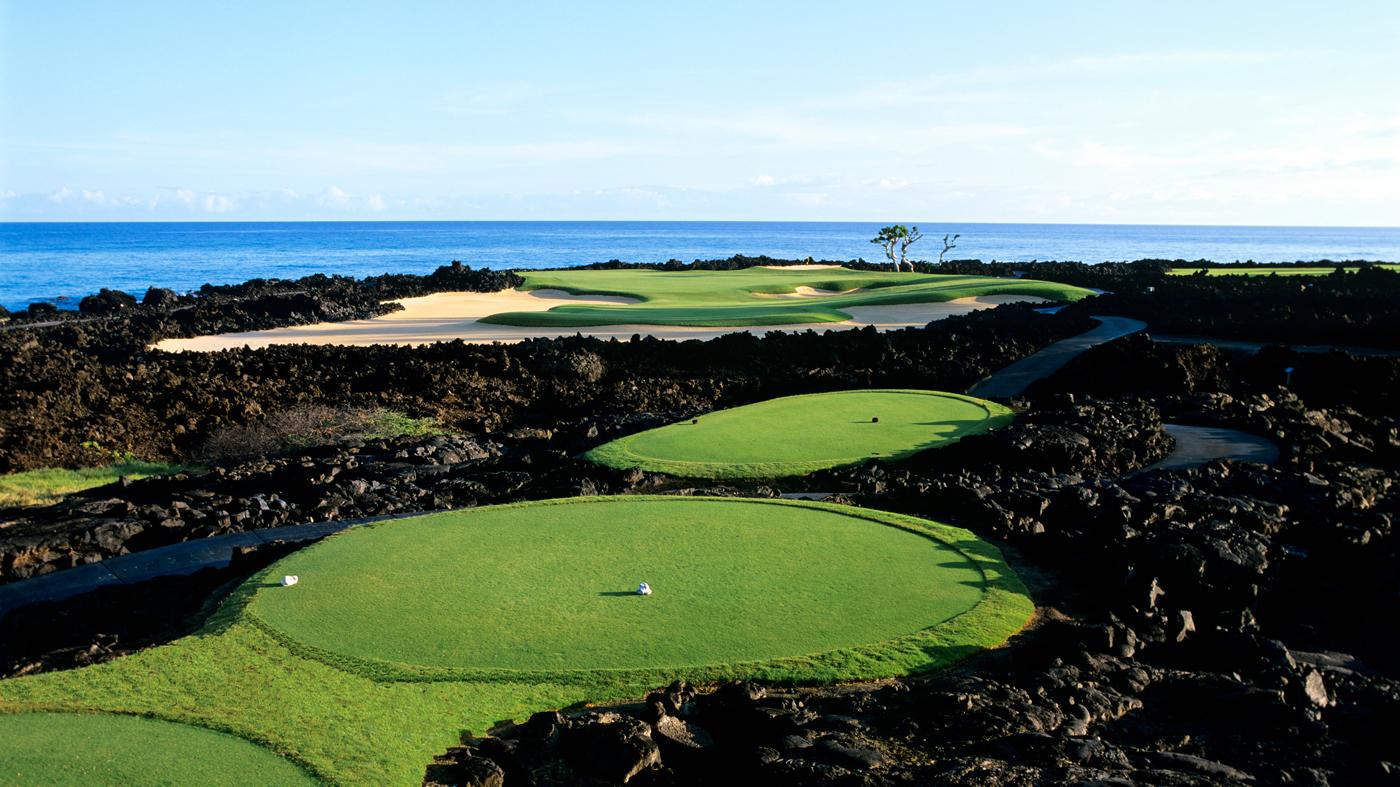 golf course near the ocean