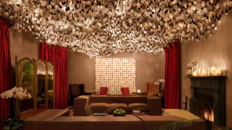 Drawing room in Gramercy Park Hotel in Manhattan