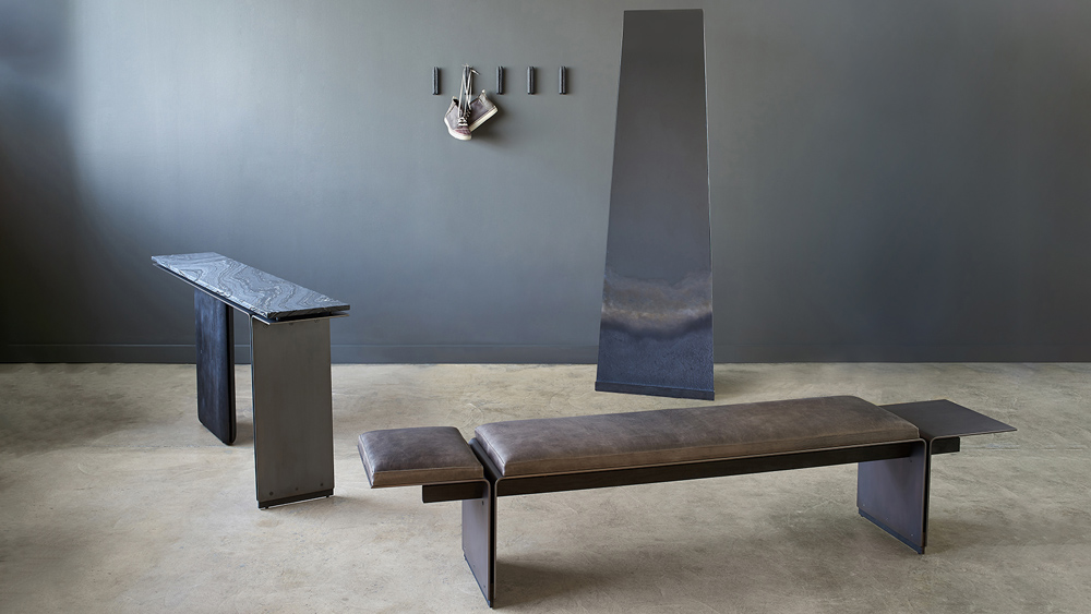 bench, console, mirror, wall hooks from Workshop/APD by Desiron Collection