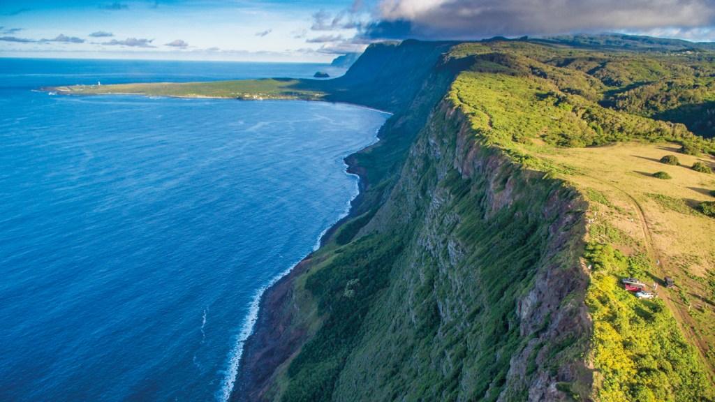 cliffside view in Hawaii