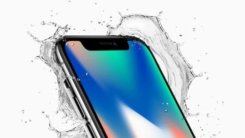 Apple iPhone X splash in water