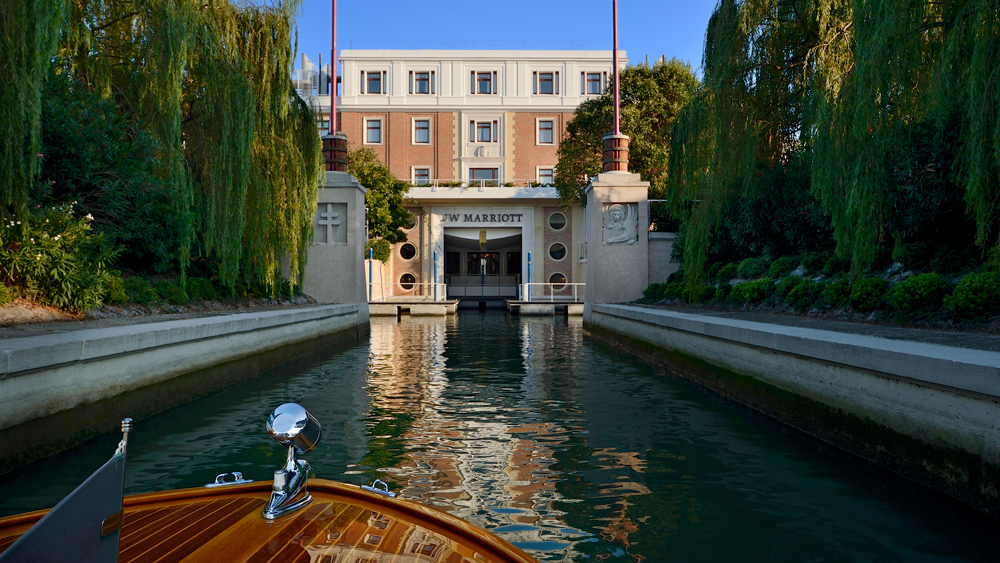 canal entrance to JW Marriott Venice Resort & Spa