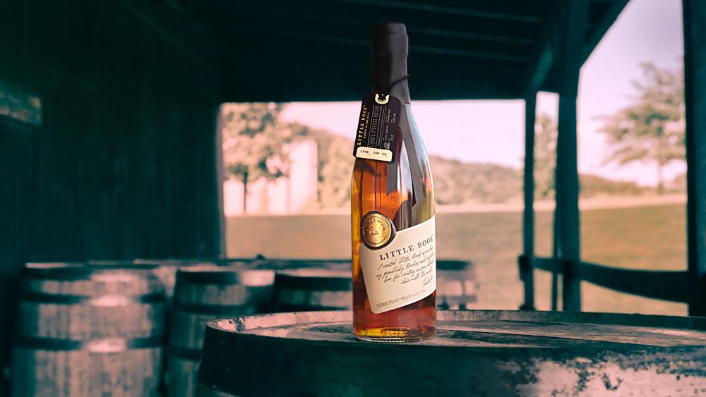 bottle of Jim Beam Little Book whiskey