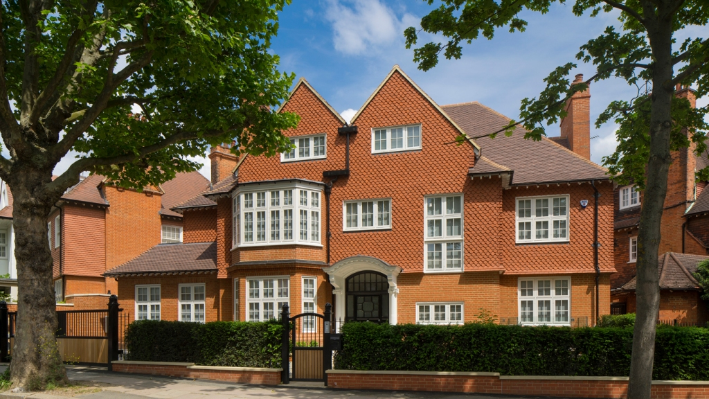 red brick home in London