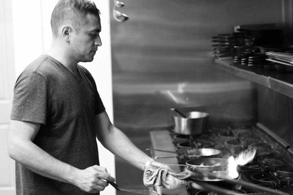 Maycoll Calderon cooking