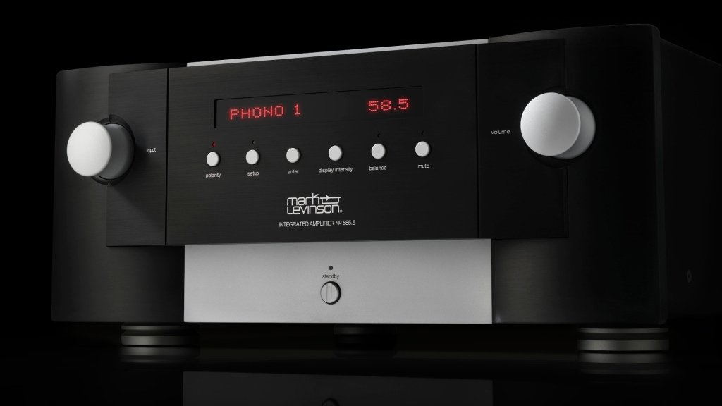 Mark Levinson No. 585.5 integrated amp black phono