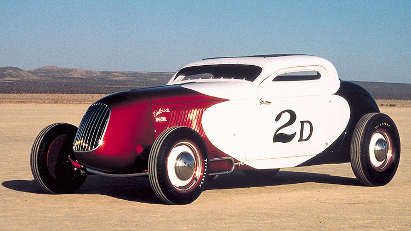 The Pierson Brothers' 1934 Ford three-window coupe owned by Bruce Meyer.