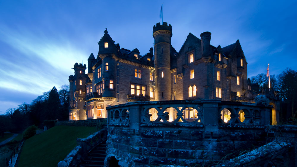 Night view of Skibo Castle