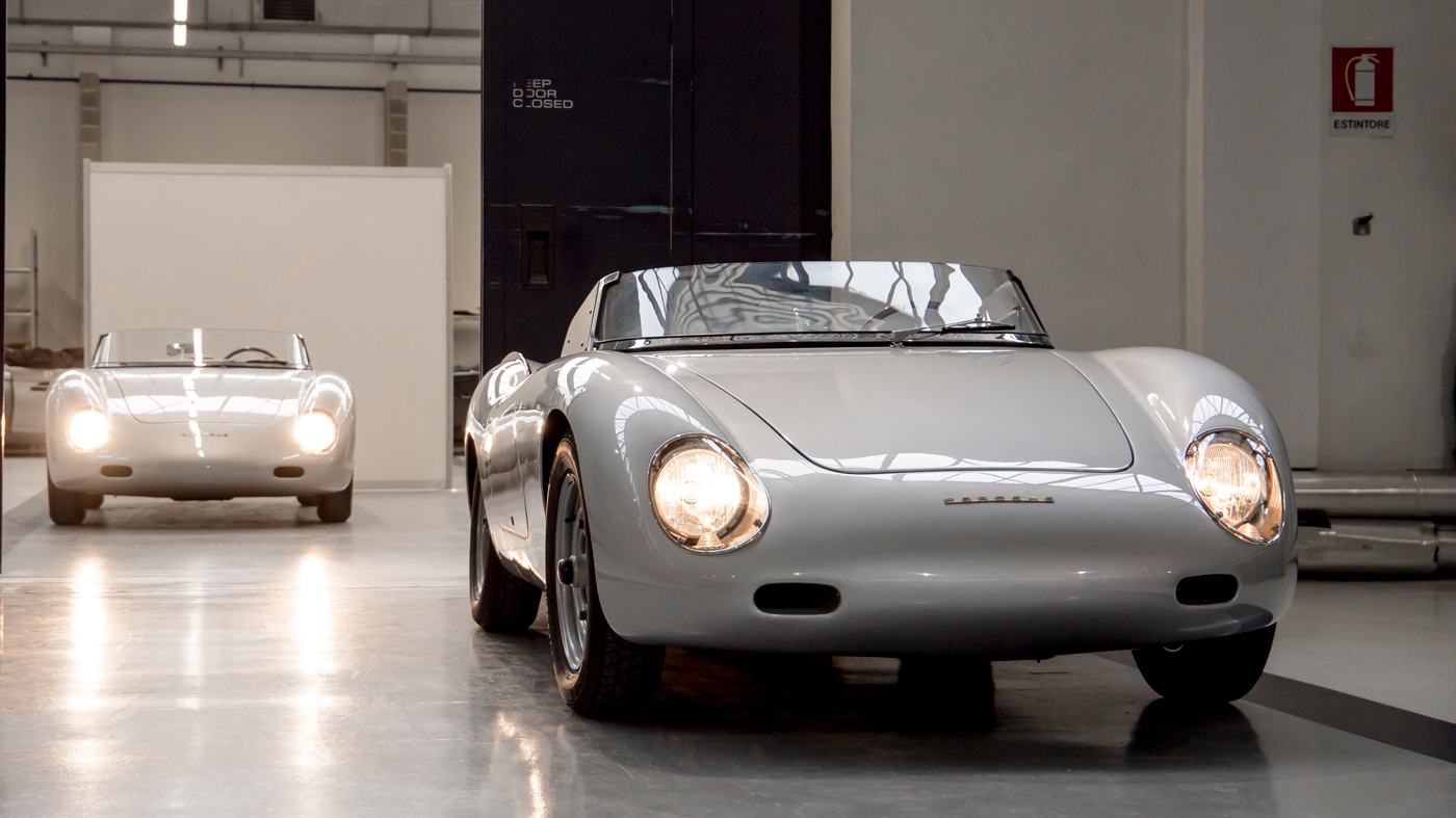 Two of the nine examples of the Porsche 356 Carrera Speedster Zagato.