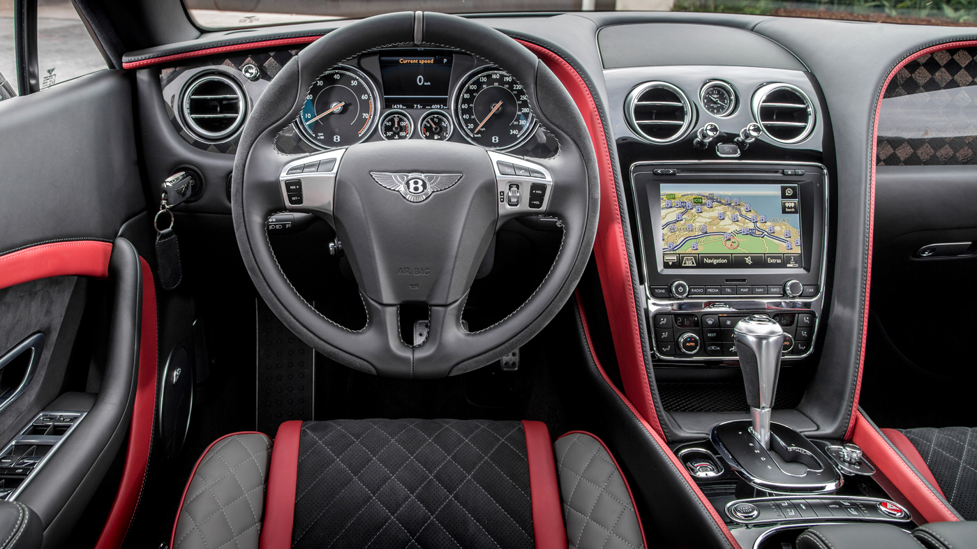 Interior view of the Bentley Continental Supersports.