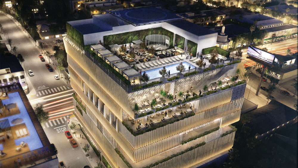 Renderings of the Sunset Strip residential building
