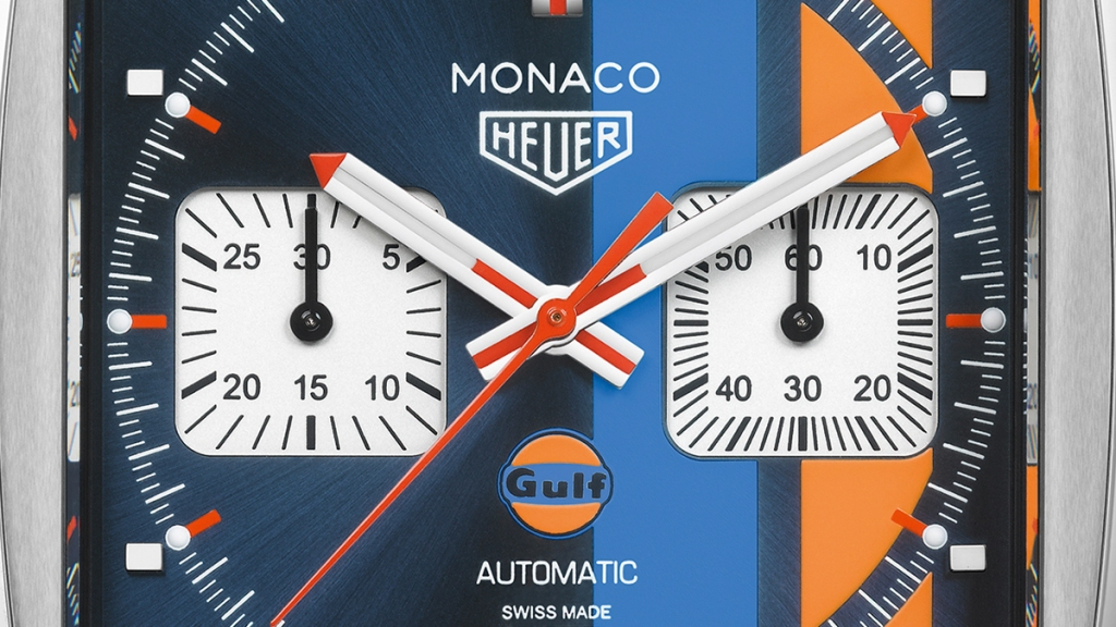 TAG Heuer Monaco Gulf Detail