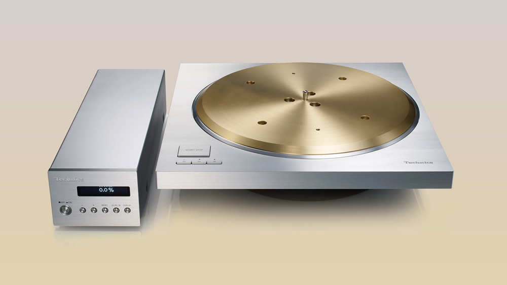 front view of the Technics SP-10R direct-drive turntable