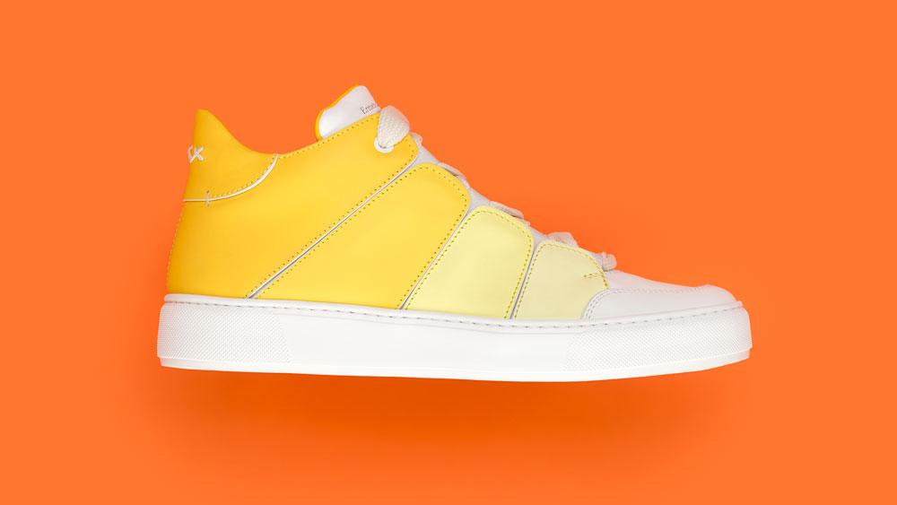 Ermenegildo Zegna Couture Tiziano Rainbow Sneaker