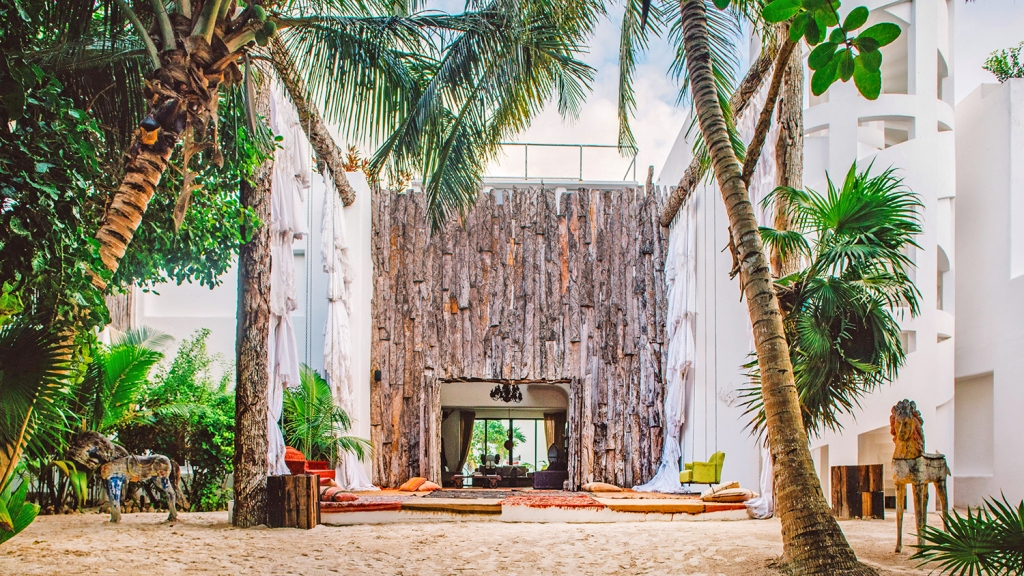 Beach resort in Mexico