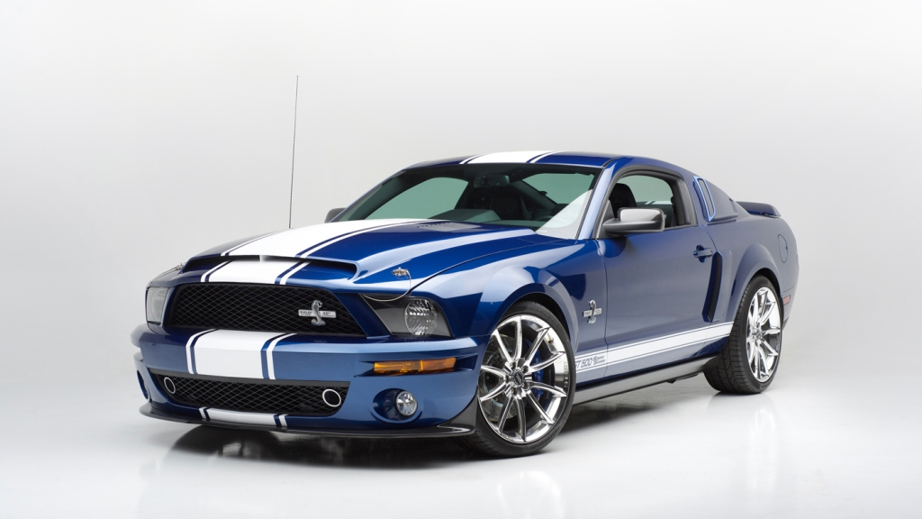 A 2007 Ford Shelby GT500 Super Snake 40th Anniversary Edition.